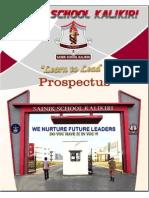 Prospectus 2016-Sainik School Kalikiri