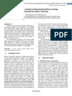Performance Analysis of Quorum Based Power Saving  Protocols for Ad hoc Networks