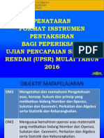 Pp Penataran Format Matematik 2016