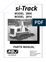 ASV 2800 2810 Posi Track Loader Parts Manual Download