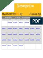 Advanced Daily Flow Calendar