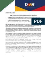 GMR Rajahmundry Energy Ltd. Commences Operation [Company Update]