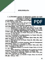Althusser Bibiografia