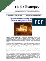 Diario de Ecatepec Noticias 1 al 7 de abril 2008