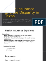 health insurance and the disparity in texas