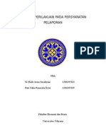 syarat-syarat pelaporan akuntansi keprilakuan
