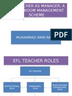 3. Efl Teacher as Manager(Presentation)