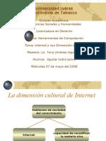 Internet y su dimencion cultural