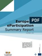 European Eparticipation Summary Nov 2009