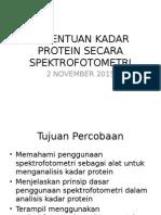 Penentuan Kadar Protein Secara Spektrofotometri
