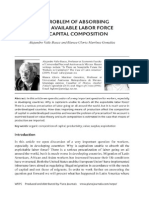 The problem of absorbing all available labor force and capital composition