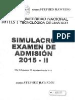Simulacro de Examen de Admisión 2015-II- UNTELS