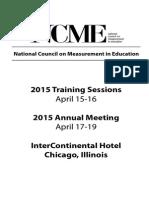 NCME Program 2015