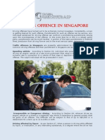 Driving Offence in Singapore
