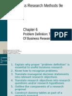 Chapter 6 Problem Definition Zikmund.ppt