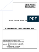 Weekly 5th Jan to 11th Jan 2015