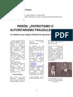 Pensamiento de un radical sobre Peron