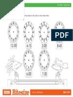 Worksheet Clockworks