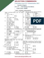 Ssc Cgl Exam 101113