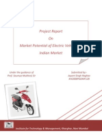 Report on potential market of e-vehicles