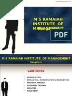 M S Ramaiah Institute of Management Bangalore|PGDM