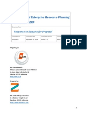 Knet Open ERP Proposal | Cloud Computing | Enterprise Resource Planning
