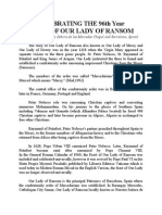 Celebrating the 96th Year Feast of Our Lady of Ransom, Patroness of Brgy. Mercedes and Barcelona, Spain