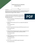SHRM Group Project Questionnaire