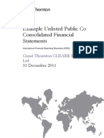 Example Interim Consolidated Financial Statements Unlisted Dec11