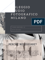Noleggio Studio Fotografico Milano