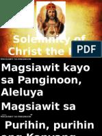 Christ the King Mass