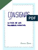 """Libro de consignas """"Caja de las palabras mágicas"""""""