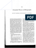 Charmaz, K y Mitchell, R. (2001) Grounded Theory in Ethnography.