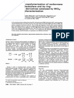 Metathesis Copolymerization of Norbornene With Phenylacetylene and Its Ring-substituted Derivatives Catalysed by WCl6- 1. Product Characterization