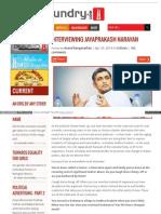 Interviewing Jayaprakash Narayan