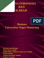 Bahasa Indonesia Dan Notasi