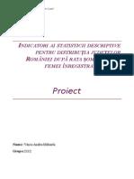 Indicatori Ai Statisticii Descriptive Pentru Distribuția Județelor României După Rata Șomajului La Femei Înregistrate În 2014