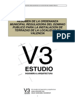 Ordenanza de Terrazas de Valencia