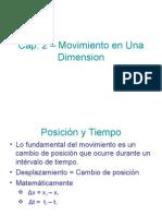 Cap 02 Movimiento en Una Dimension