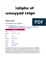 The Caliphs of Umayyad Reign