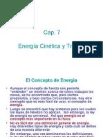 Cap 07 Energía Cinética y Trabajo