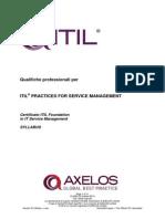 Italian Syllabus Itil Foundation v5.5