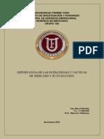 Importancia de Las Estrategias y Tácticas de Mercado y Su Evolución. - Para Combinar