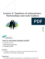Lesson 2 Taxation of Partneships and Sole Traders 13-14