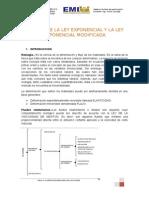 Modelo de La Ley Exponencial y La Ley Exponencial Modificada