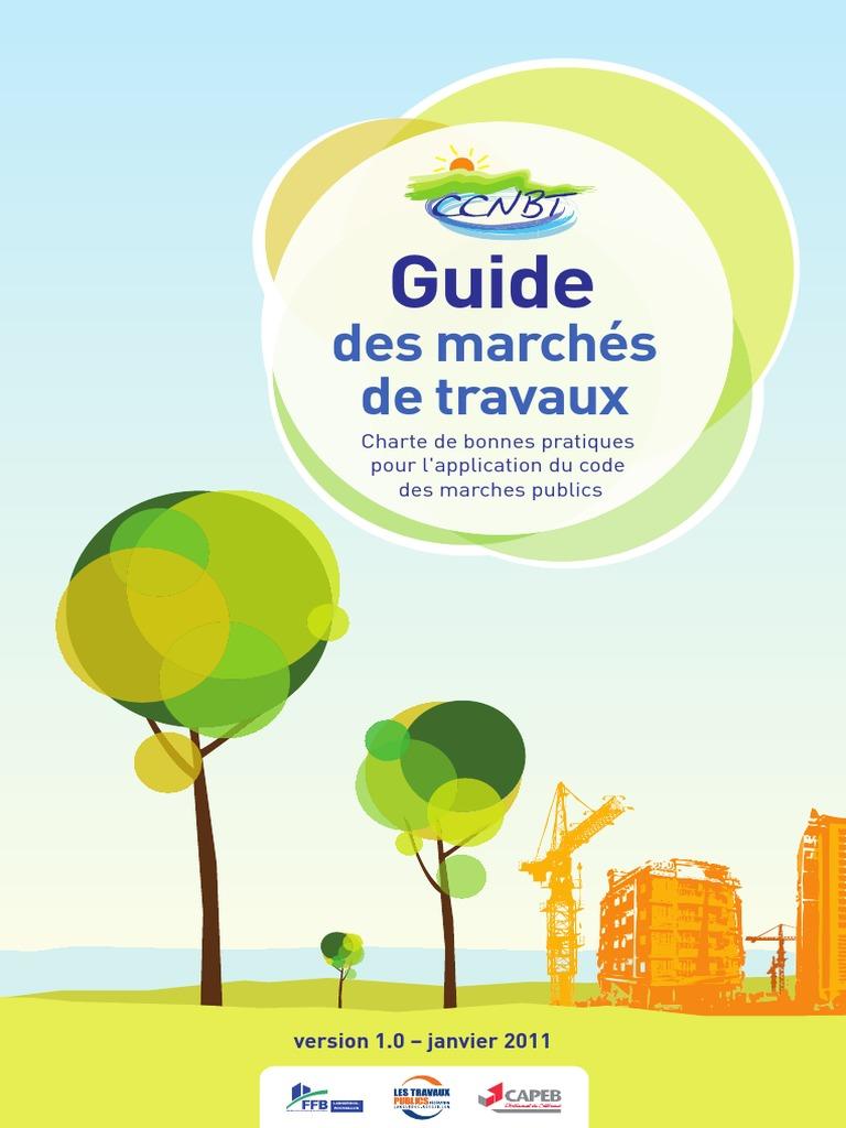 Ccnbt Marches Publics Guide Marches Travaux Pdf