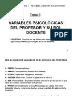 Variables Ps. Del Profesor