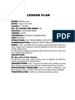 Lesson Plan Past a Vi-A Lectie Deschisa