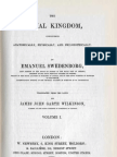 Em Swedenborg the Animal Kingdom Two Volumes First and Last Pages 1744 1745 James John Garth Wilkinson 1843 1844 the Swedenborg Scientific Association 1960