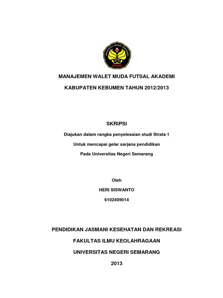 Manajemen Olahraga Futsal